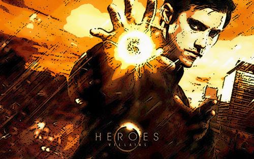 Cartoon-style Peter Petrelli achtergrond