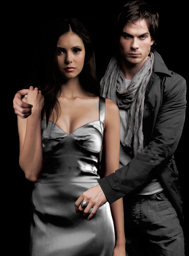vampire diaries damon pics. Damon and Elena