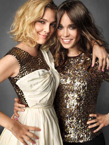 Drew Barrymore and Ellen Page in Marie Claire