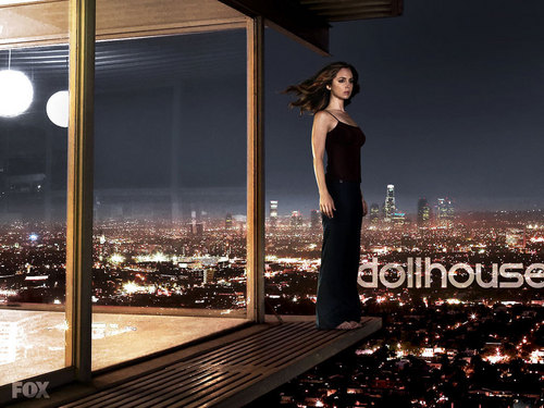 Dollhouse wallpaper probably with a revolving door called Echo