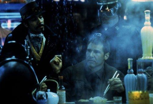 Edward James Olmos & Harrison Ford in Blade Runner