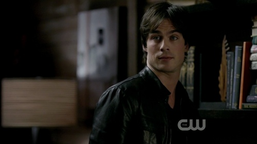 Damon and Stefan Salvatore پیپر وال probably with a street, a reading room, and a bookshop entitled Episode 1.01 - Pilot