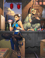 Fan Art: Ibuki, Chun Li - street-fighter fan art