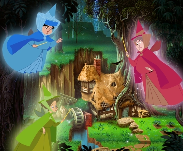 Fauna, Flora and  Merryweather Cartoon Disney