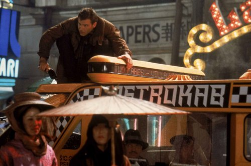 Blade Runner wallpaper probably containing a diner and a street entitled Harrison Ford as Deckard in Bladerunner