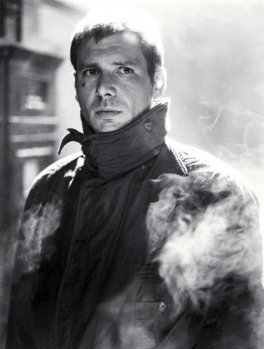 Harrison Ford as Deckard in Bladerunner