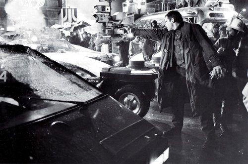 Blade Runner wallpaper containing a street and a barrow entitled Harrison Ford as Deckard in Bladerunner