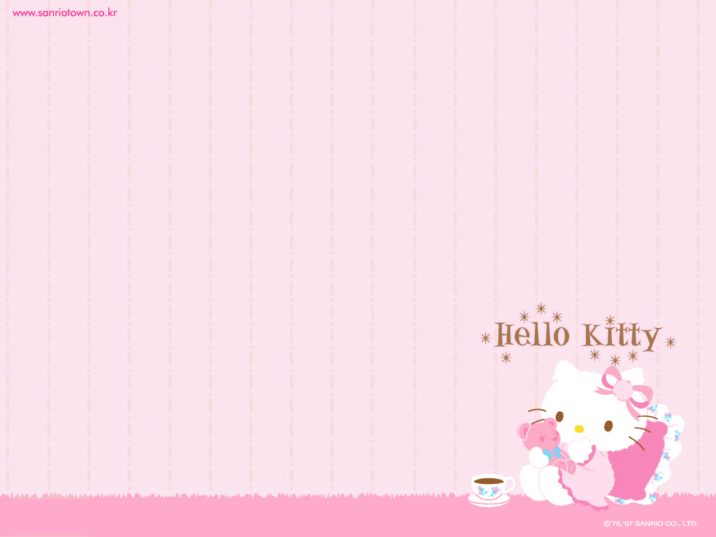 Hello Kitty kertas dinding