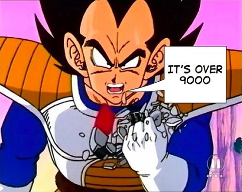 It's over 9000