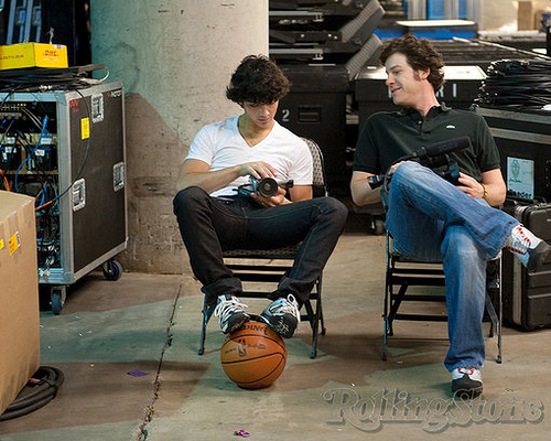 The Jonas Brothers wallpaper containing a basketball titled JB World Tour Rehersals