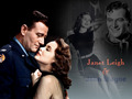 John Wayne and Janet Leigh,Wallpaper - john-wayne wallpaper