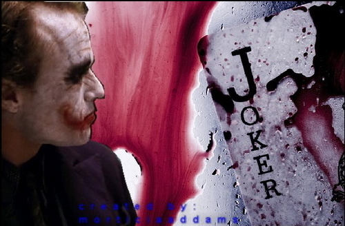 Joker's bloody card