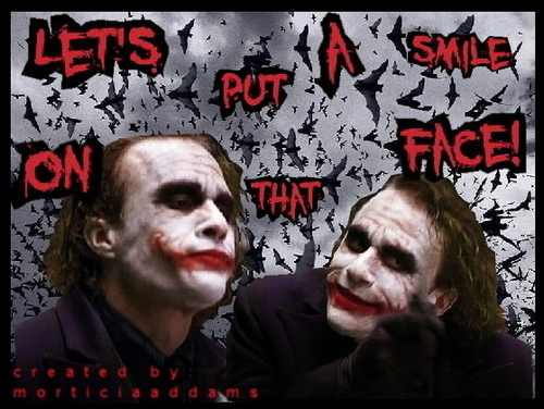 The Joker wallpaper containing anime entitled Let's put a smile on that face!
