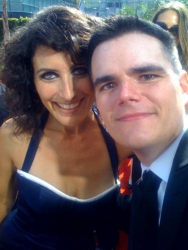 Lisa and Ausiello @ Emmy's 61st