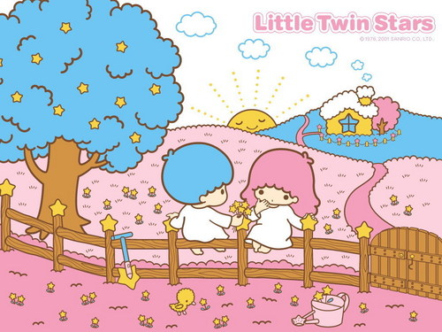 Little Twin Stars kertas dinding
