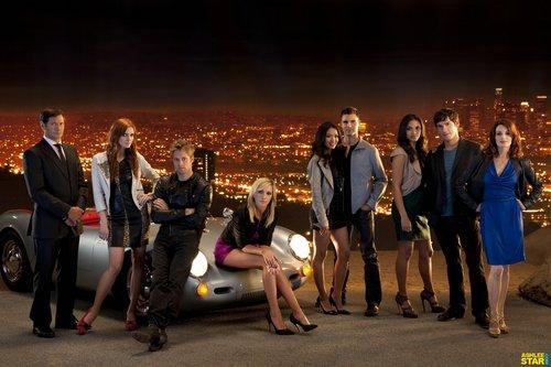 Melrose Place Season 1 cast promoshoots