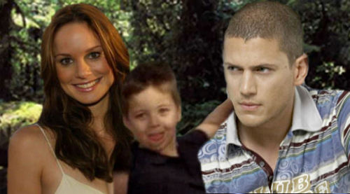 Michael Scofield with Sara and MJ