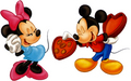 Mickey and Minnie Valentine siku