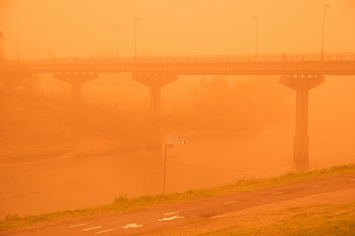 My Town In the Worst Dust Storm we have ever had ....