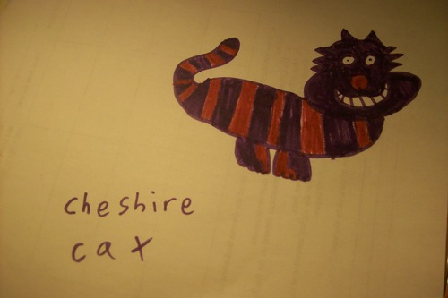 My drawing of the Cheshire cat