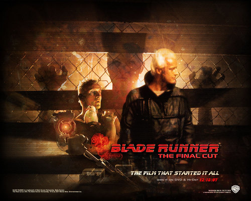 Blade Runner wallpaper containing a chainlink fence, a fire, and a fireplace titled Official Blade Runner Wallpaper