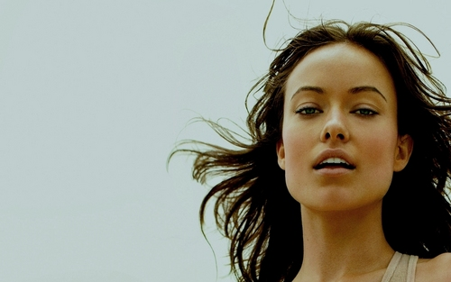 Olivia Wilde wallpaper with a portrait entitled Olivia On The Beach