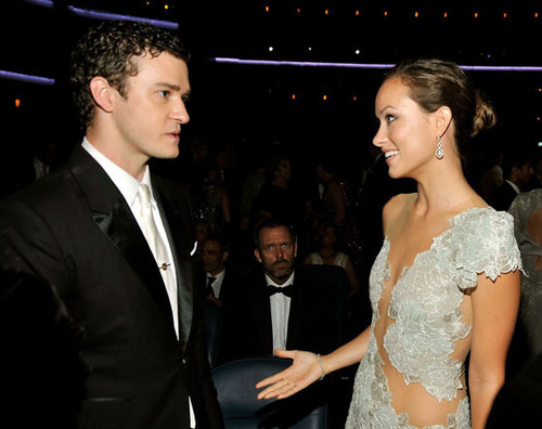 Olivia and Justin Timberlake at the Emmys