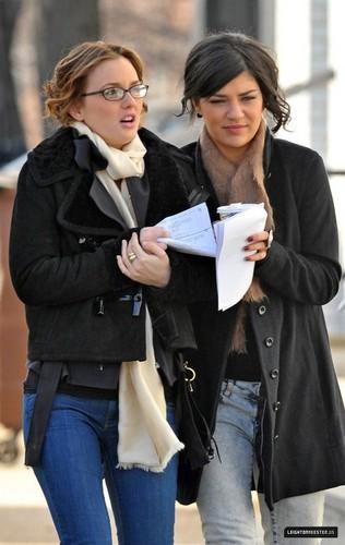 On set (January 14, 2009)
