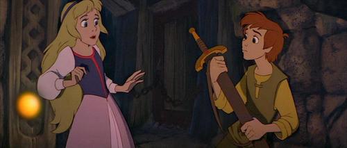 Princess Eilonwy and Taran
