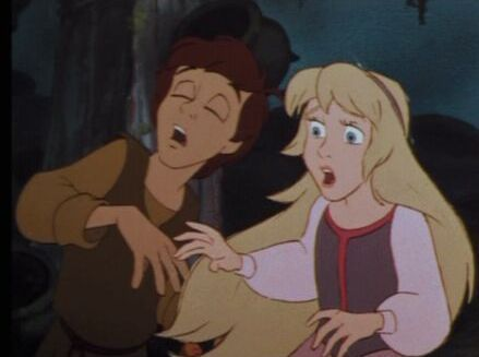 Princess Eilonwy and Taran