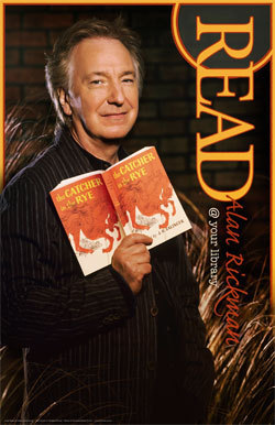 alan rickman fondo de pantalla with a newspaper and anime called Read poster Alan Rickman
