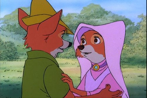 Disney Couples wallpaper probably containing anime called Robin Hood and Maid Marian
