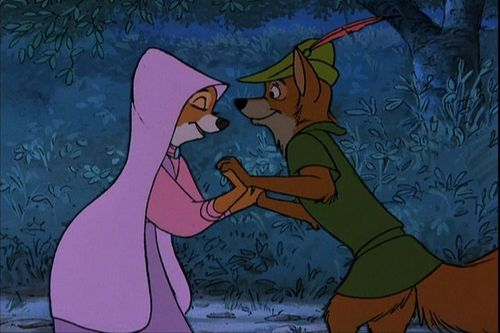 Disney Couples wallpaper with anime titled Robin Hood and Maid Marian