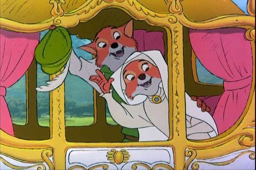Robin capuche, hotte and Maid Marian