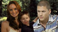 Sara Scofield with her husband Michael and her son MJ