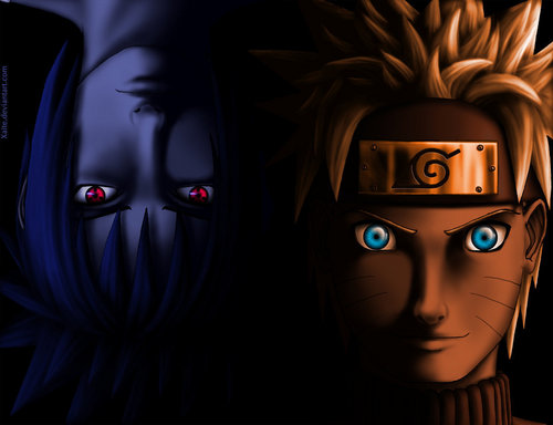 Naruto Shippuuden wallpaper titled Sasuke and Naruto