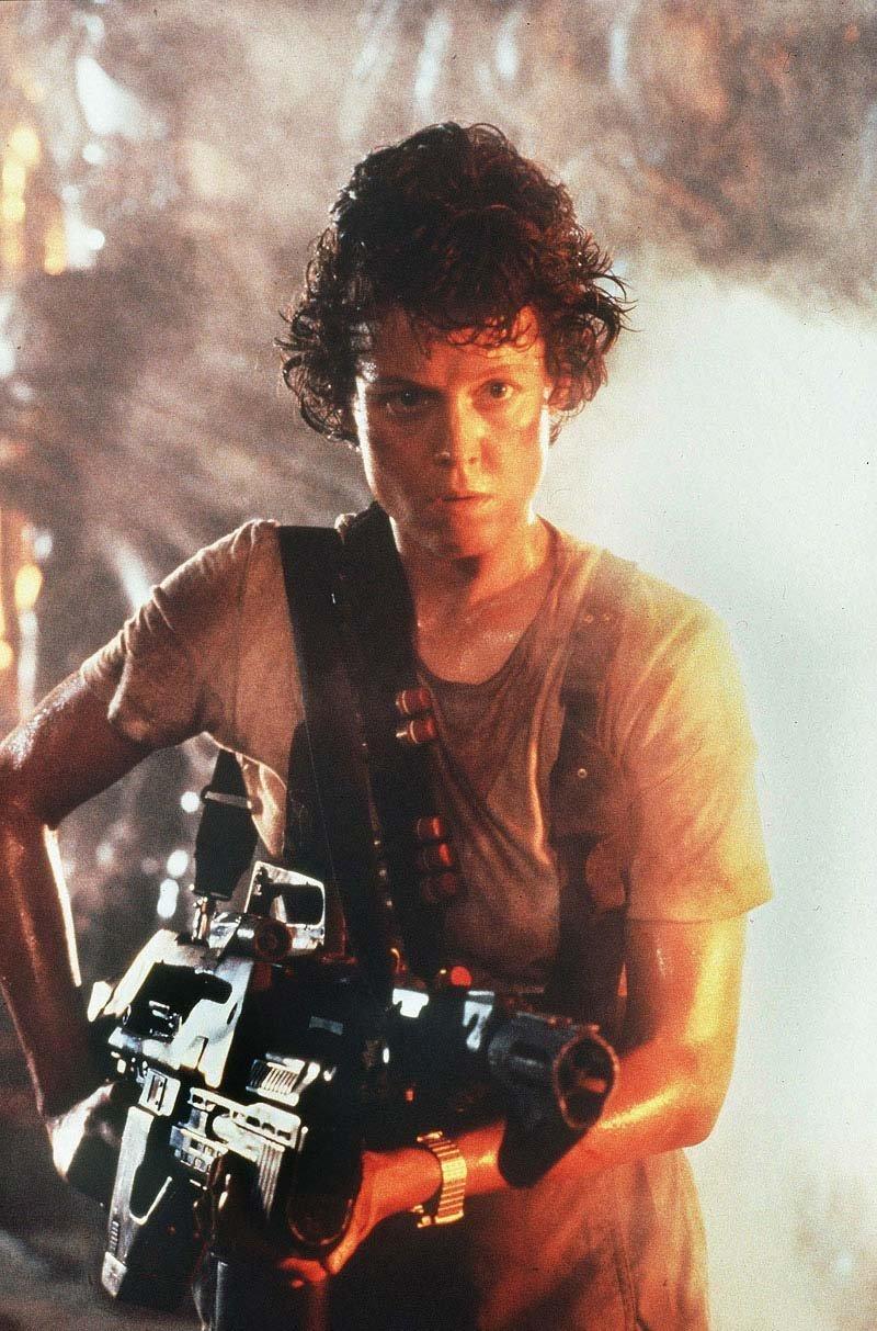 Sigourney Weaver as Ripley in Aliens