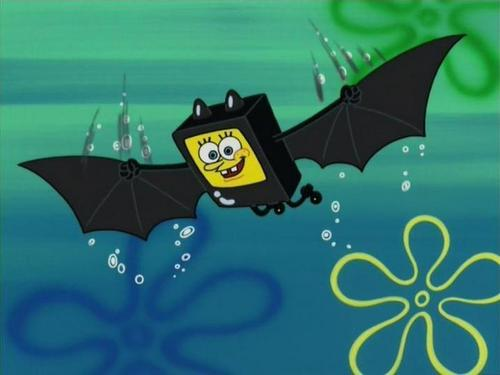 SpongeBob SquarePants karatasi la kupamba ukuta probably containing a parasol titled Spongebob