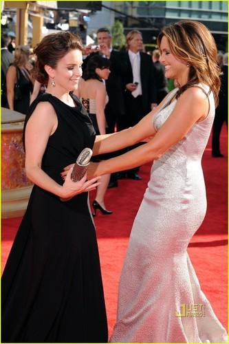 Tina Fey @ Emmys Red Red Carpet