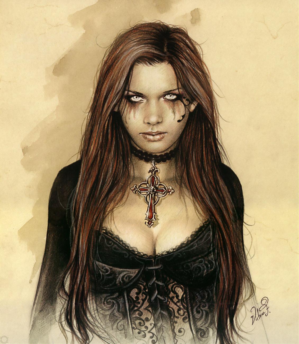 Victoria Frances - Mas... Gothic Violin Wallpaper