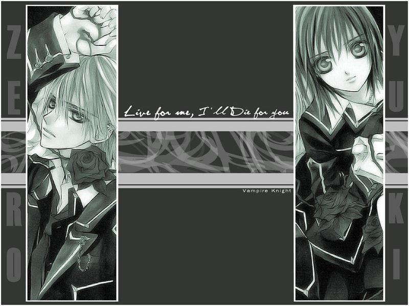 vampire knight zero. Zero x Yuuki Wallpaper