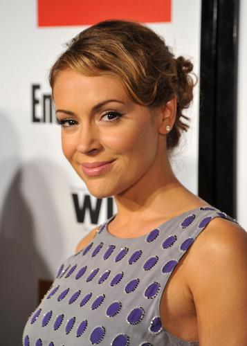 alyssa milano-EW and Women in Film pre-Emmy Party