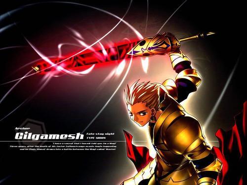 gilgamesh glowing sword