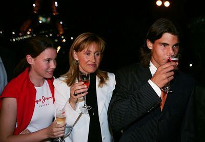 Rafael Nadal wallpaper containing a business suit called with Family