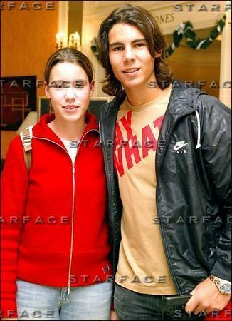 Rafael Nadal wallpaper with an outerwear and a leisure wear entitled with sister