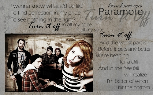 Brand New Eyes wallpaper possibly with a newspaper titled |Paramore|