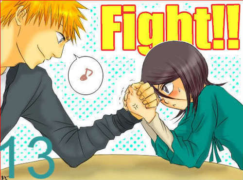 !! Rukia&Ichigo ¡¡ - ichigo-and-rukia-sun-and-moon Fan Art