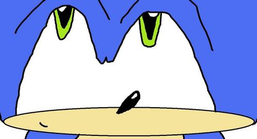 An un shaded Sonic pic.