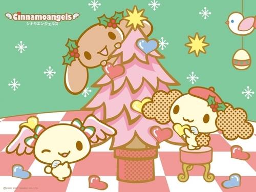 Cinnamoangels क्रिस्मस वॉलपेपर