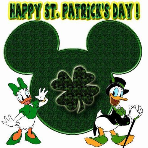 Happy St. Patrick's Day Donald Duck  - donald-duck Fan Art
